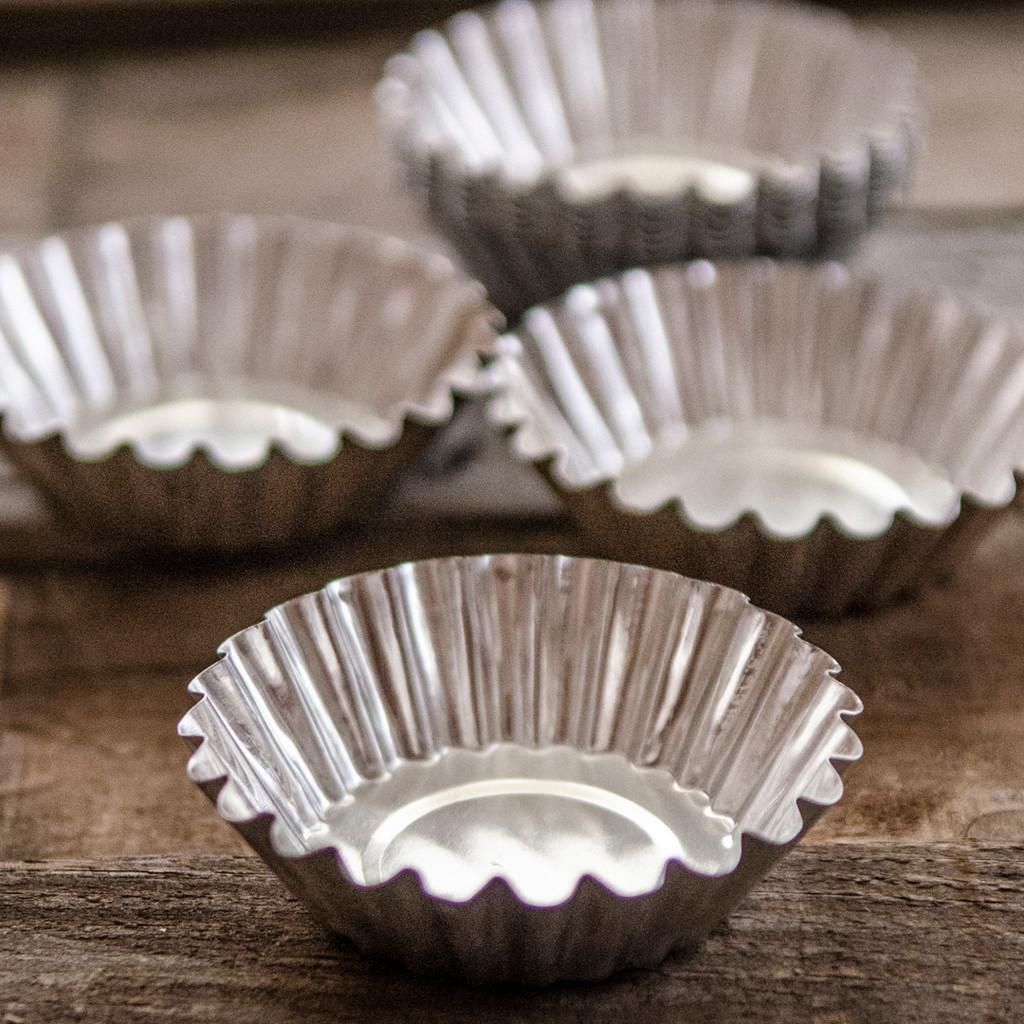 Fluted Tart Tin Molds — Kit of 10