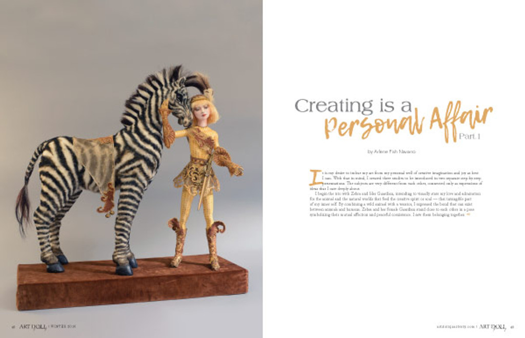 Art Doll Quarterly Winter 2018 Instant Download