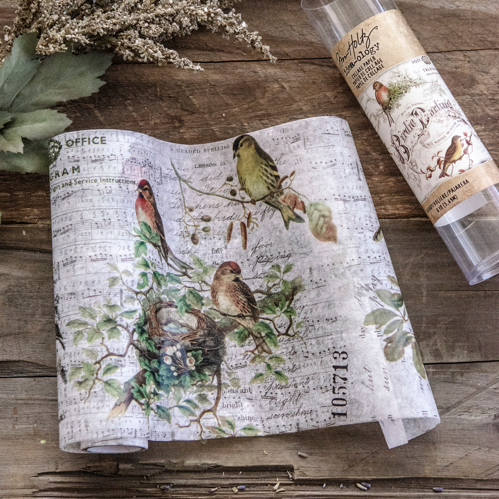 Tim Holtz Ideaology Collage Paper Aviary