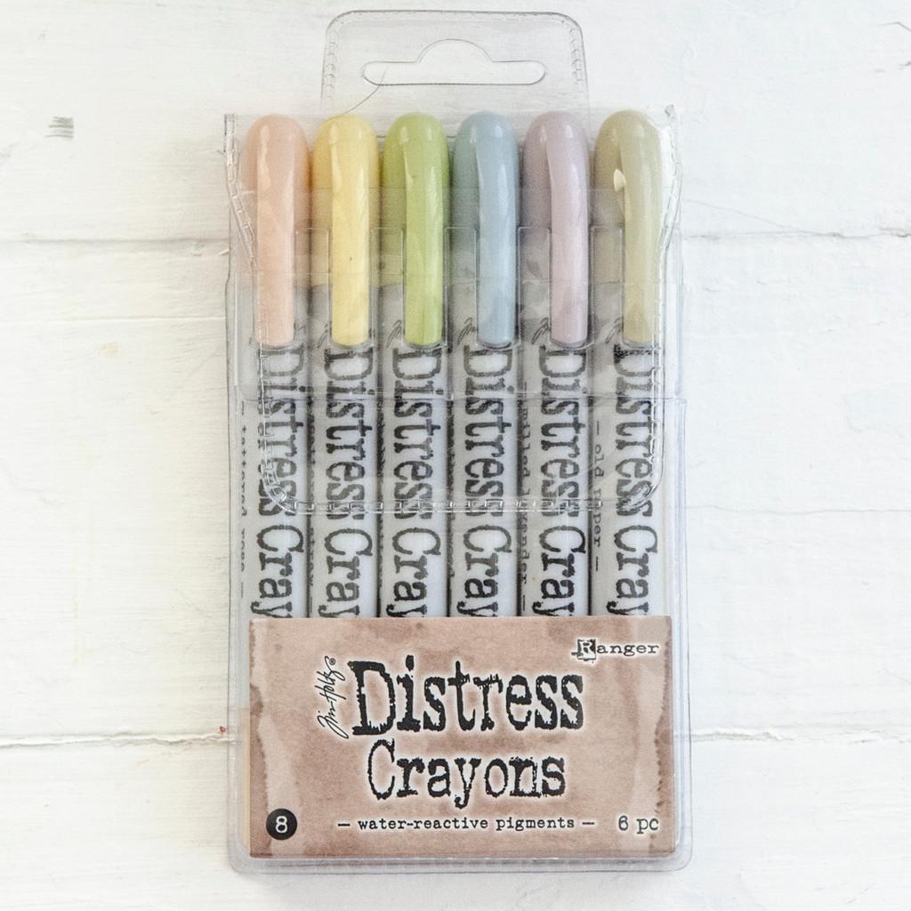 Ranger Ink Distress Crayons Set — Sophisticated Pastels