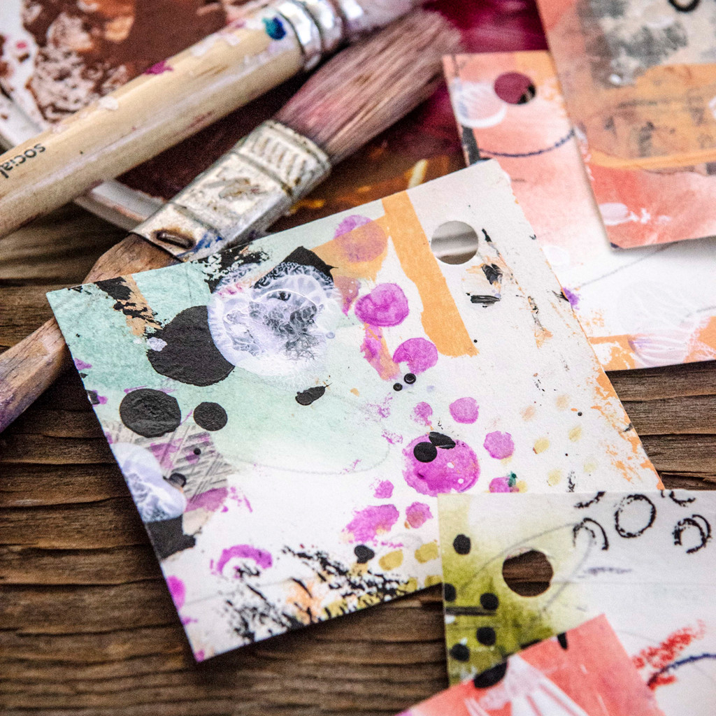 A Bitty Book of Backgrounds Project by Christen Hammons