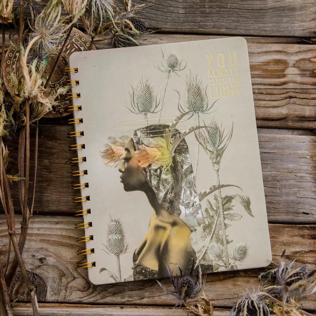 You Always Catch the Light Spiral Notebook by Papaya Art