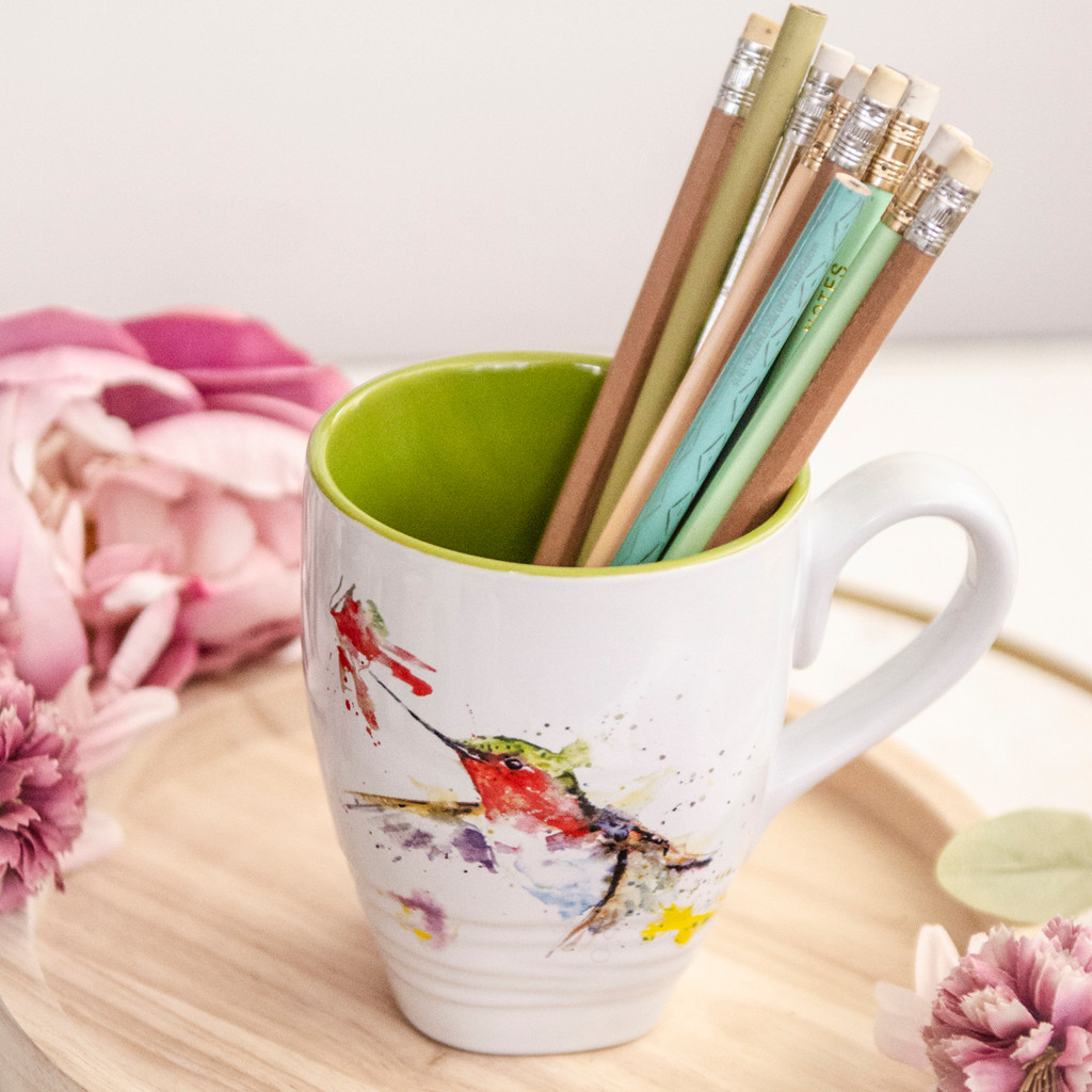Hummingbird and Flower Mug