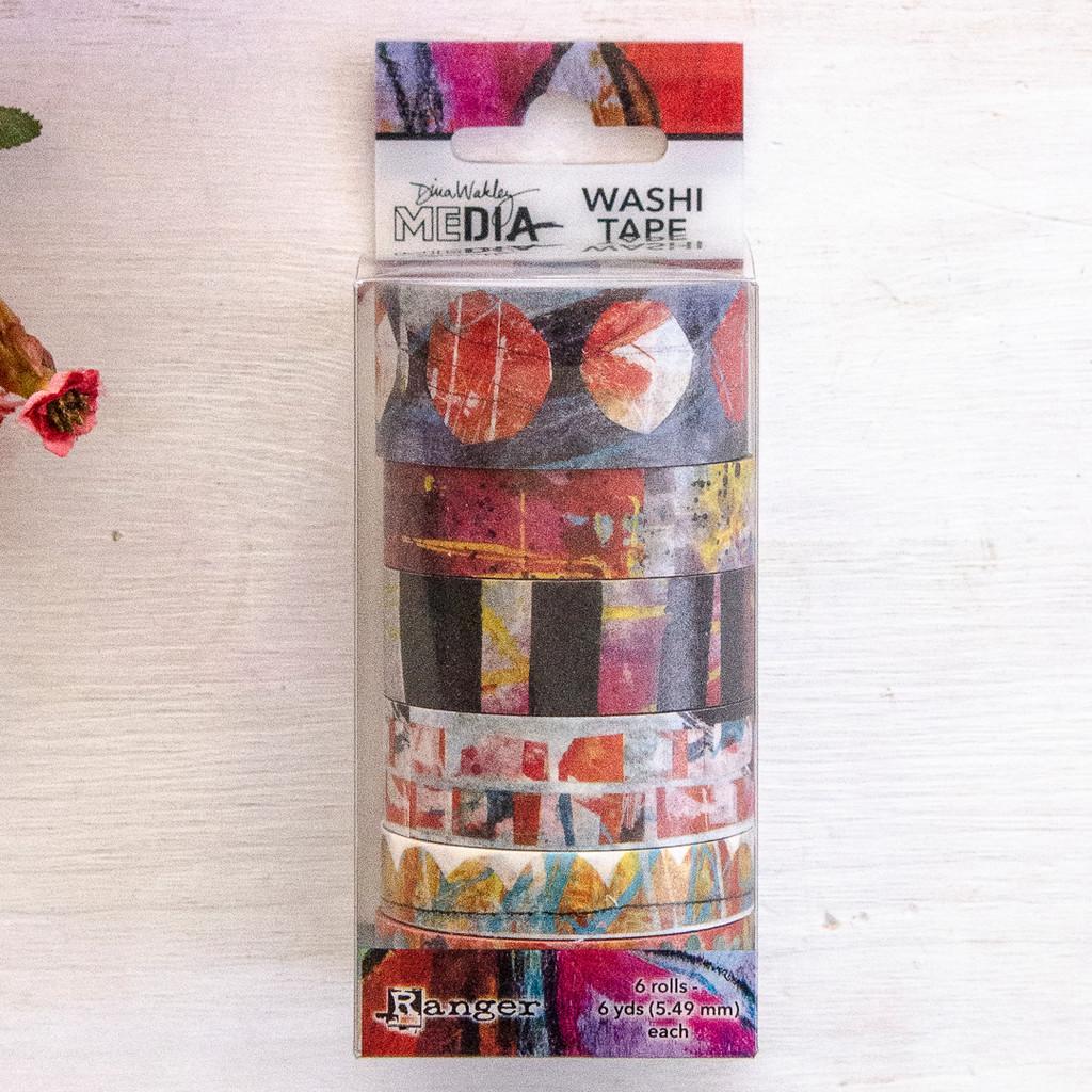 Dina Wakley Media Assorted Washi Tape — Graphic