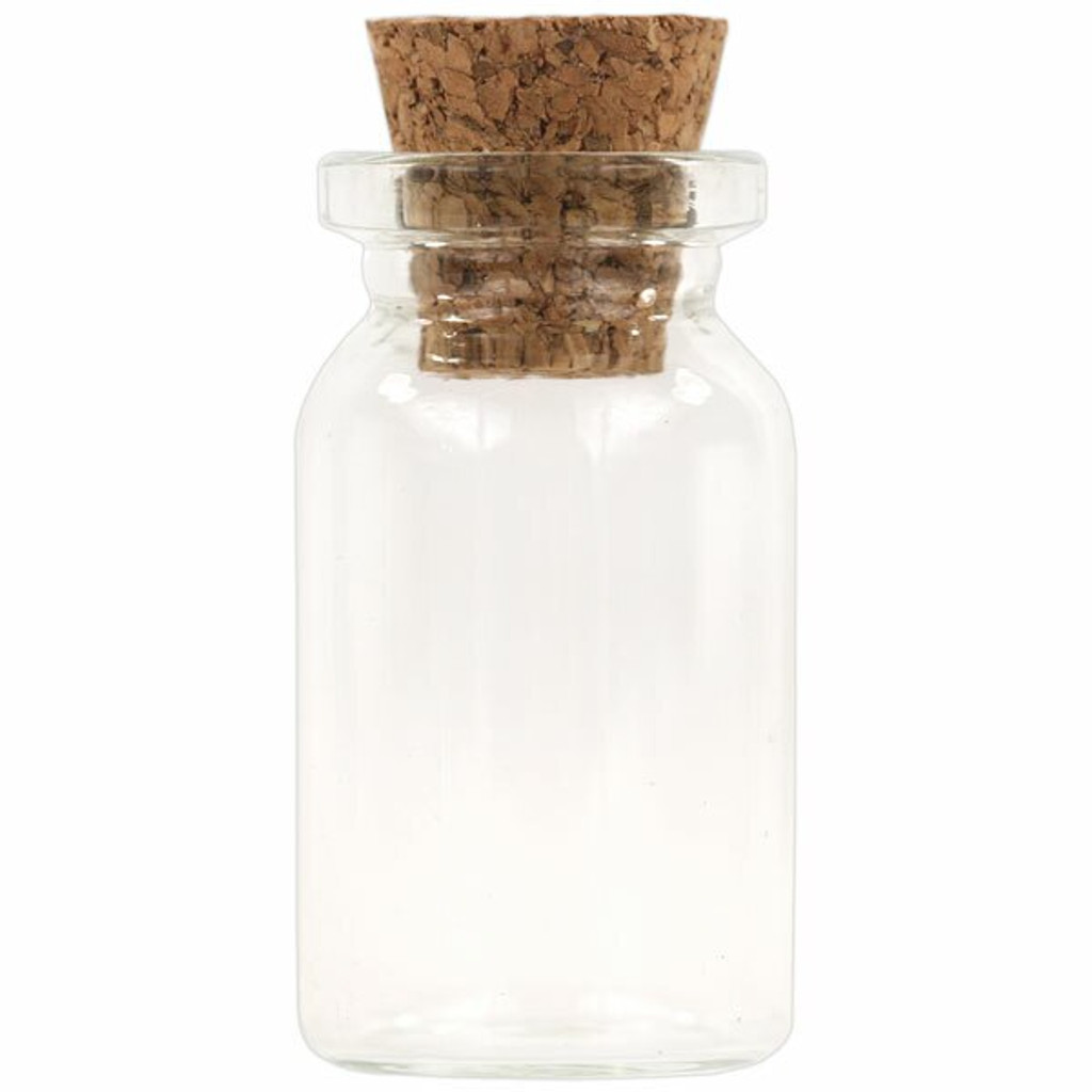 Teeny Tiny Glass Bottles With Corks — Set of 12