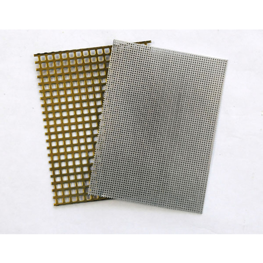 Perforated metal sheets 3 x 4 - Pack of 2