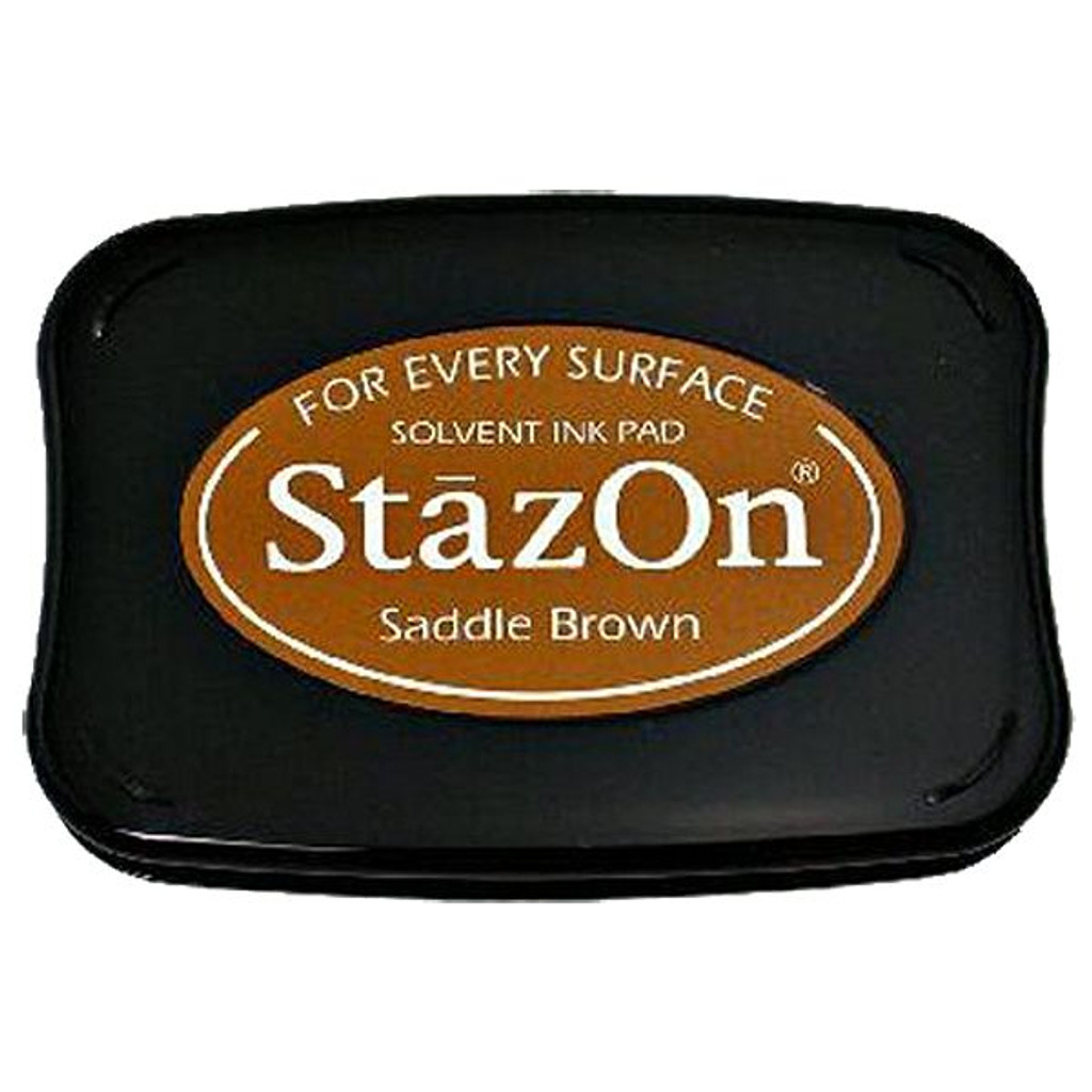 Tsukineko StazOn Inkpad — Saddle Brown