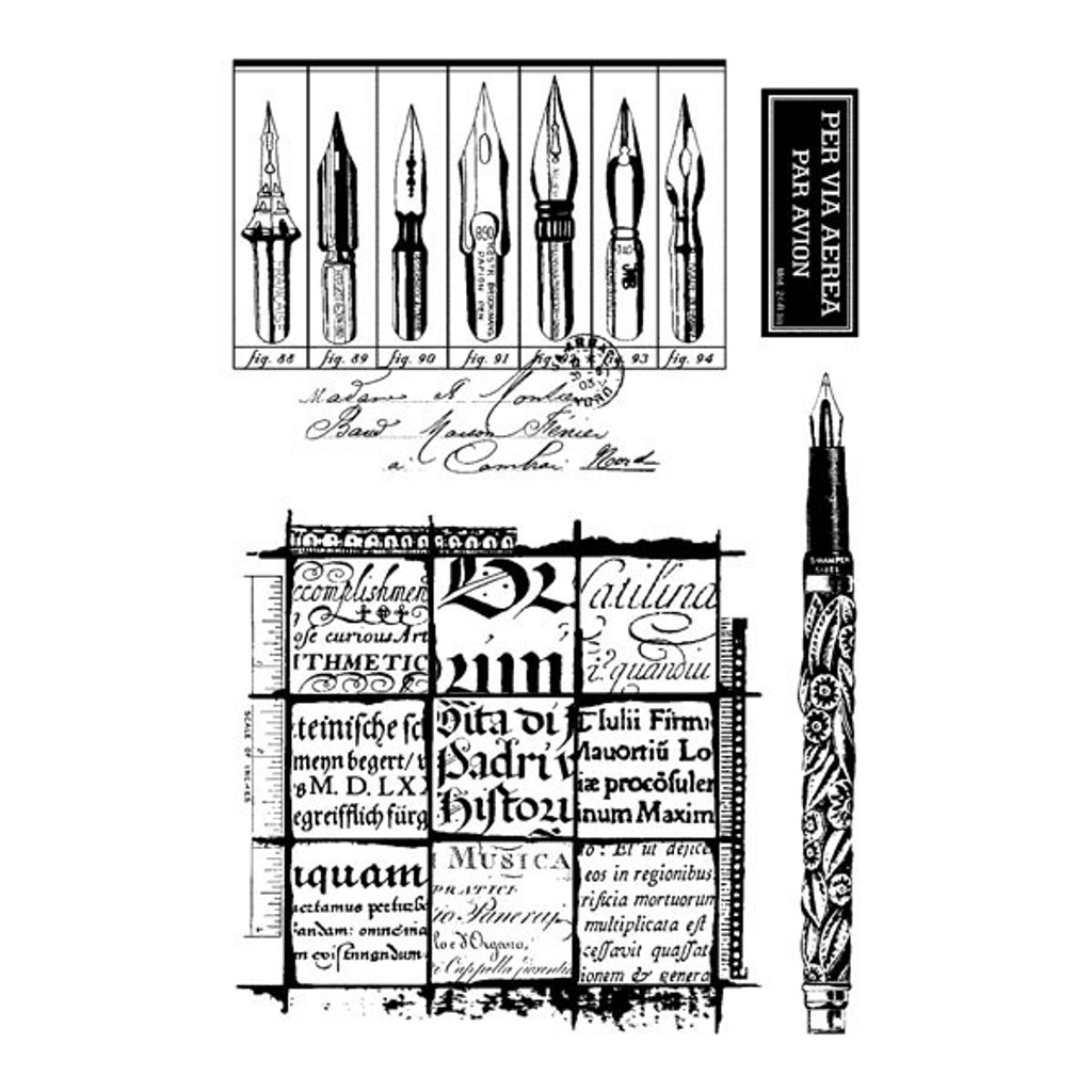 Writing Set Clearly Impressed Stamp Set by Julie van Oosten