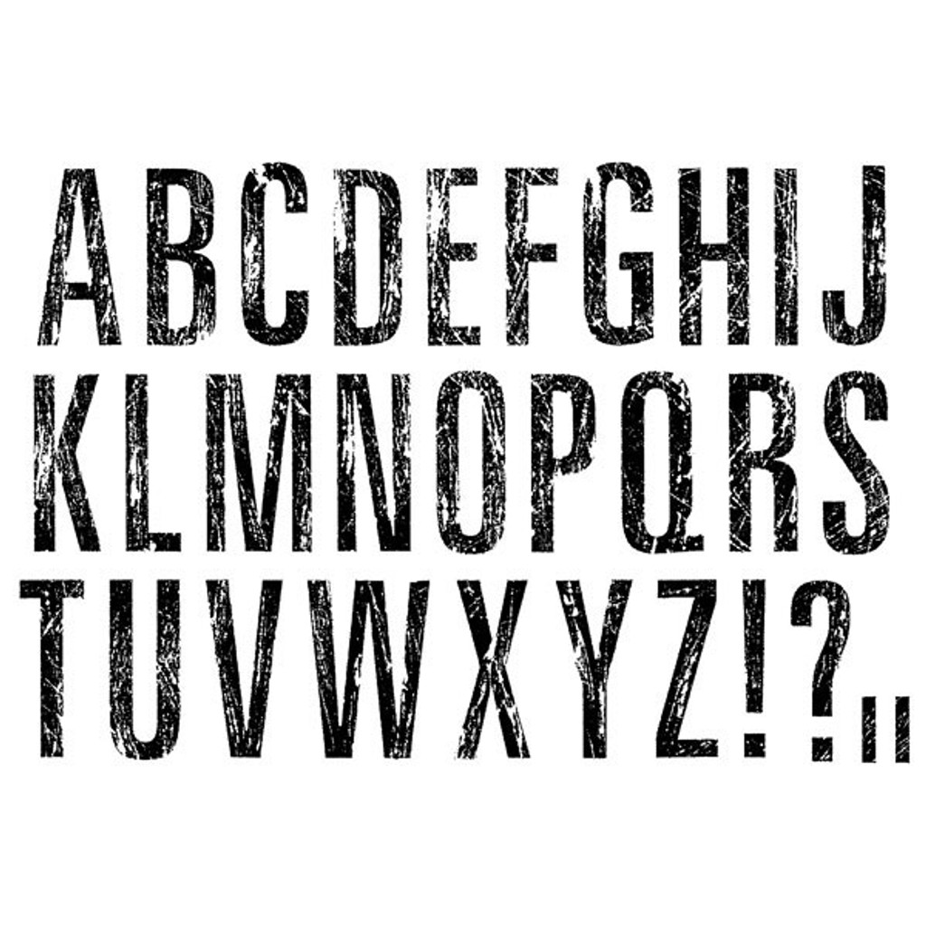 Scratch Alphabet Large Clearly Impressed Stamp Set by Julie van Oosten