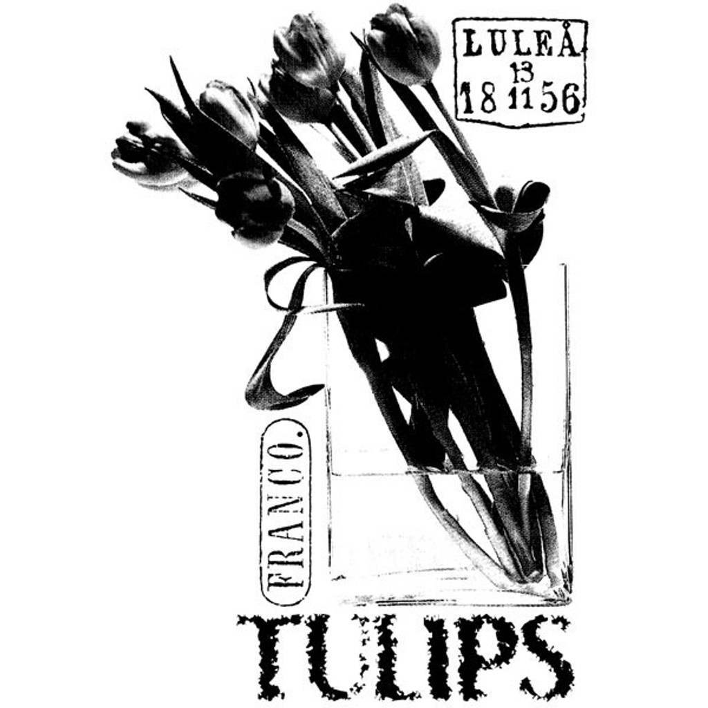 Tulips Wood Mounted Stamp by Carin Andersson