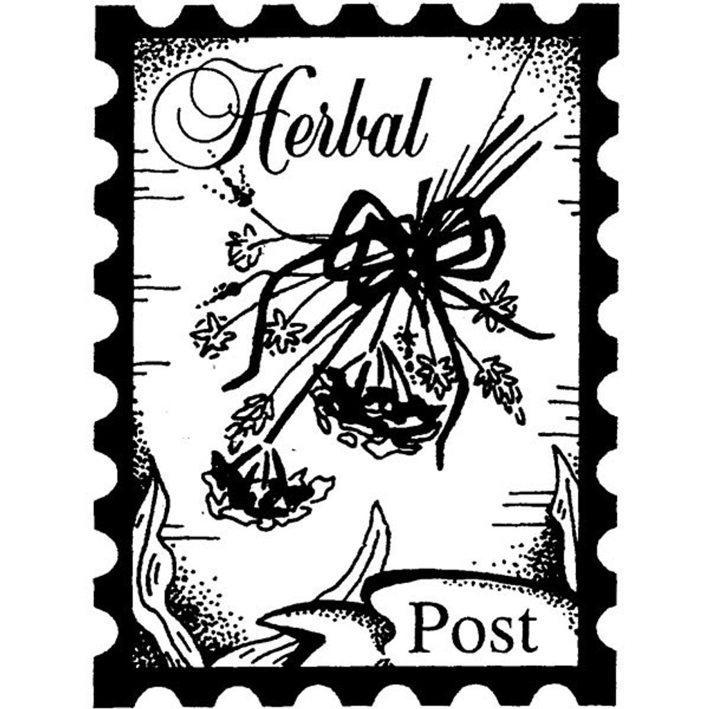 Herb Bouquet Post - Medium Wood Mounted Stamp by Classic Stampington & Company