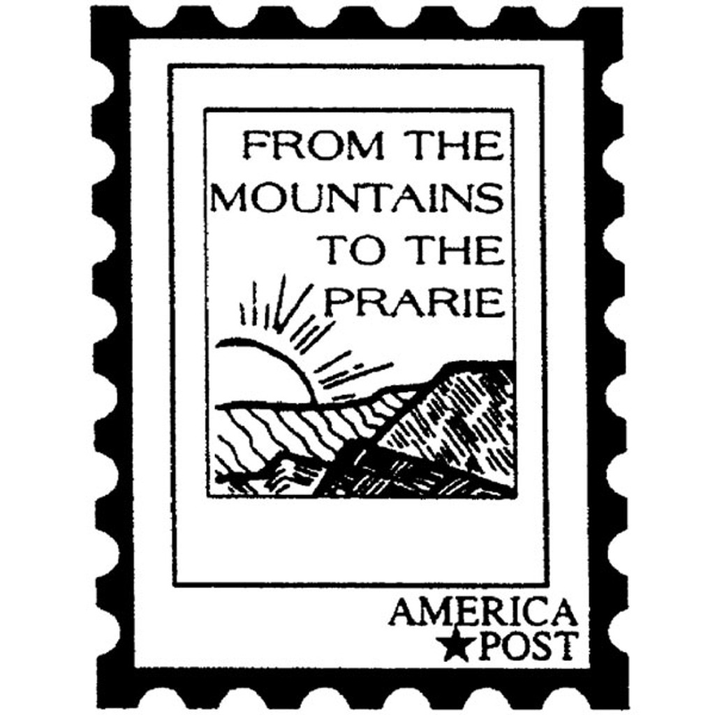 Mountain Post — Large Wood Mounted Stamp by Classic Stampington & Company