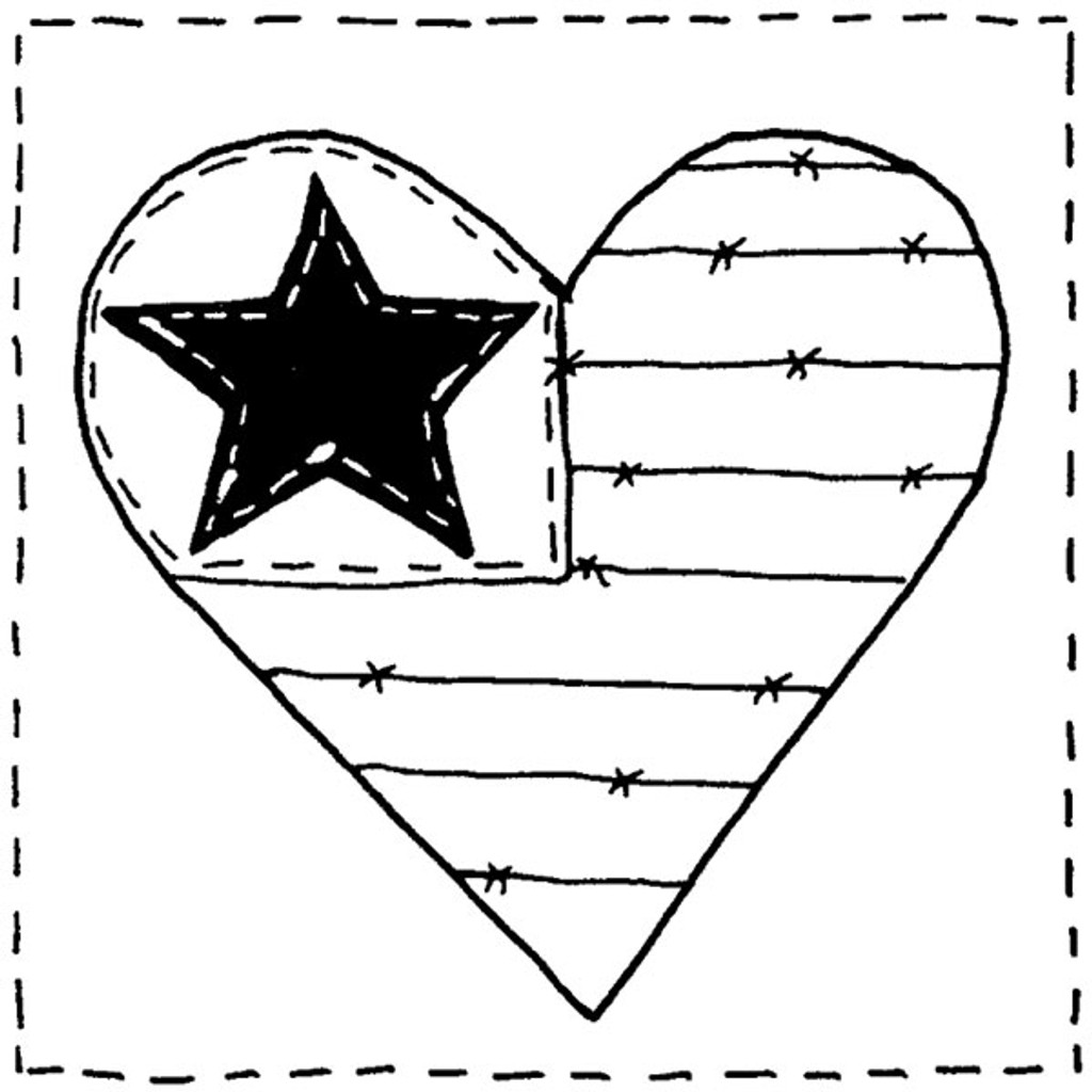 Heart Block #2 — Small Wood Mounted Stamp by Classic Stampington & Company