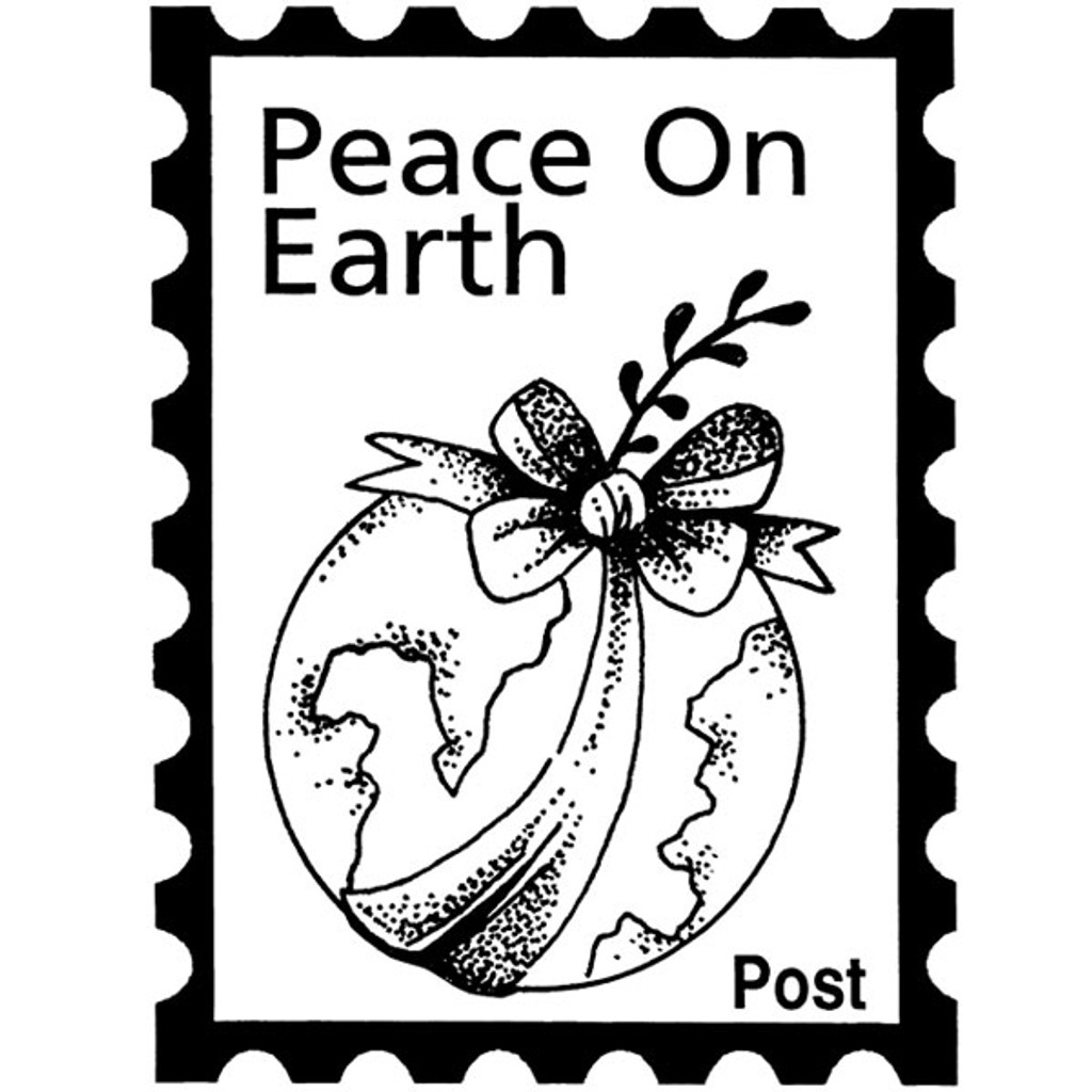 Peace Post - Small Wood Mounted Stamp by Classic Stampington & Company