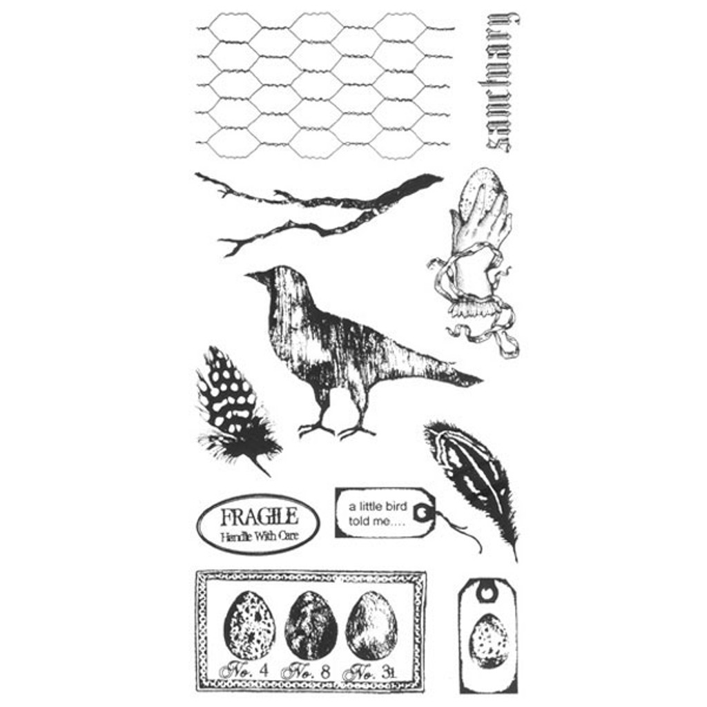 Bird Sanctuary Clearly Impressed Stamp Set by Michelle Ward
