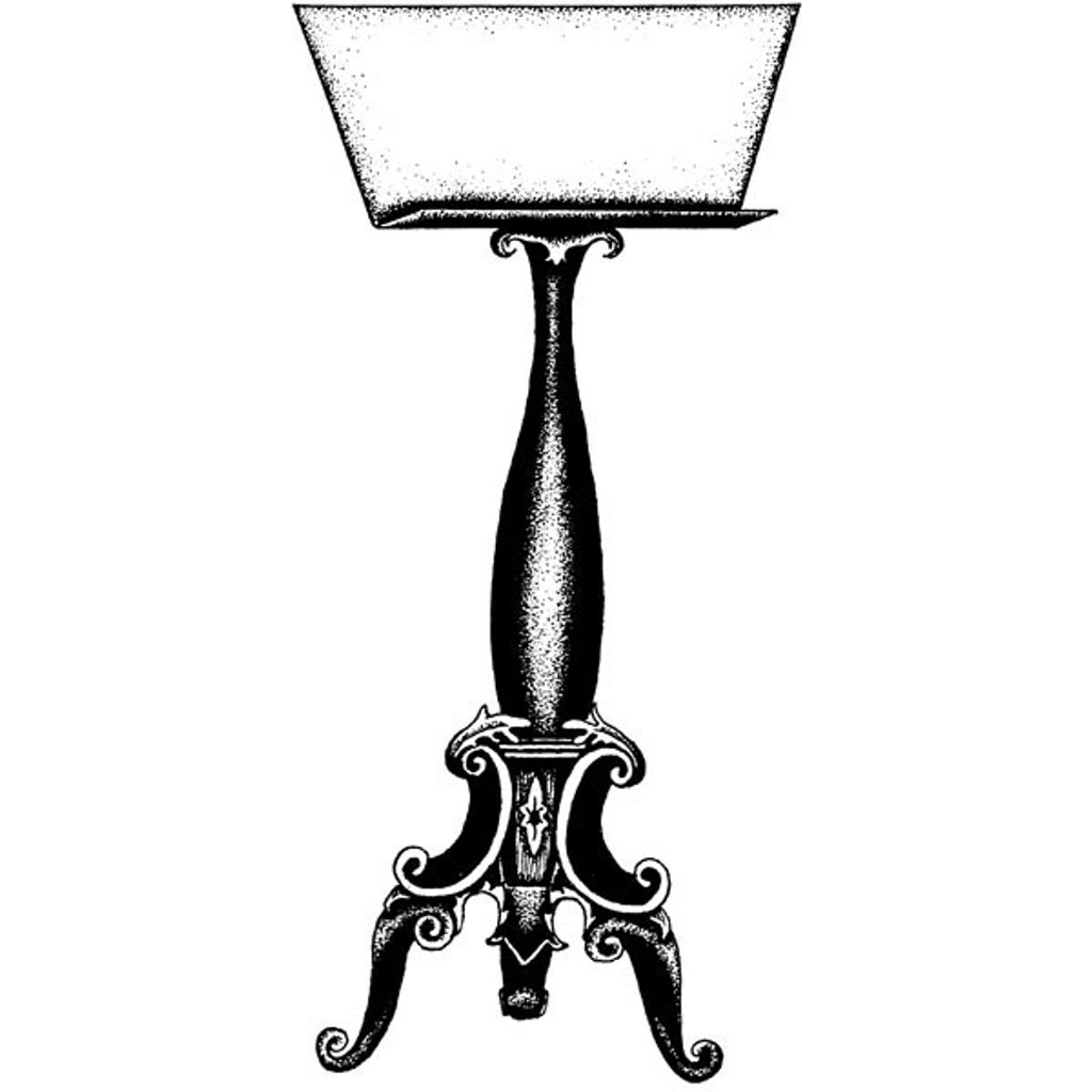 Music Stand - Small Wood Mounted Stamp by Classic Stampington & Company