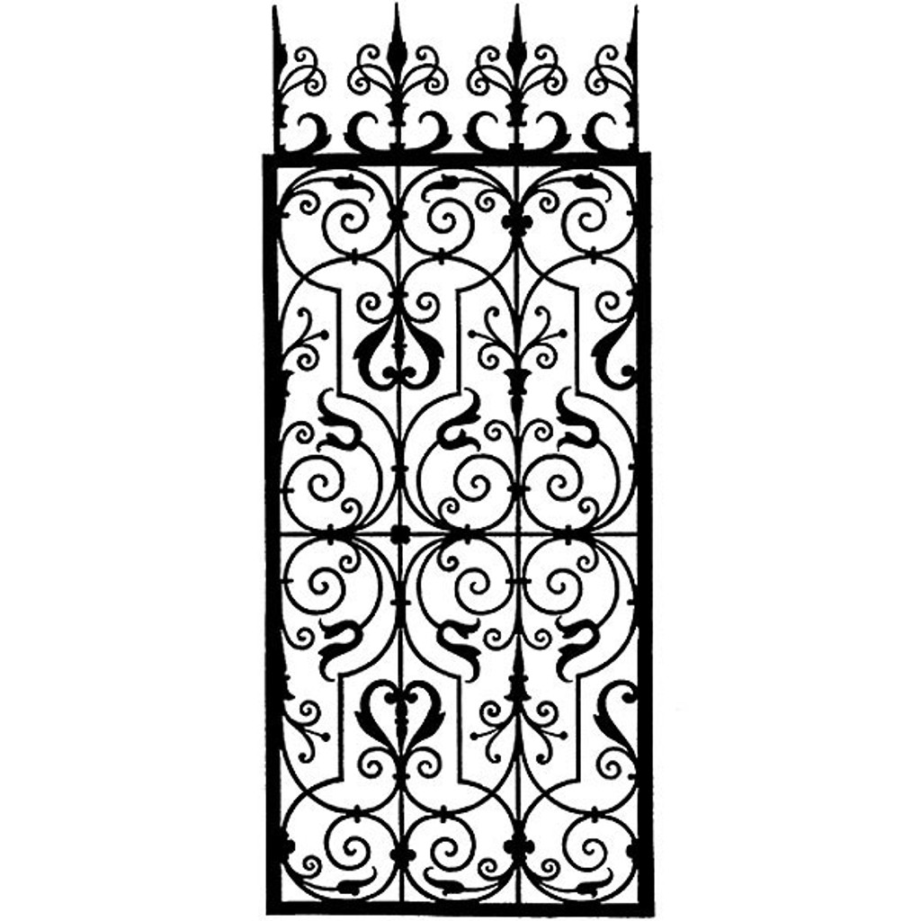 Wrought Iron Grille - Medium Unmounted Stamp by Classic Stampington & Company