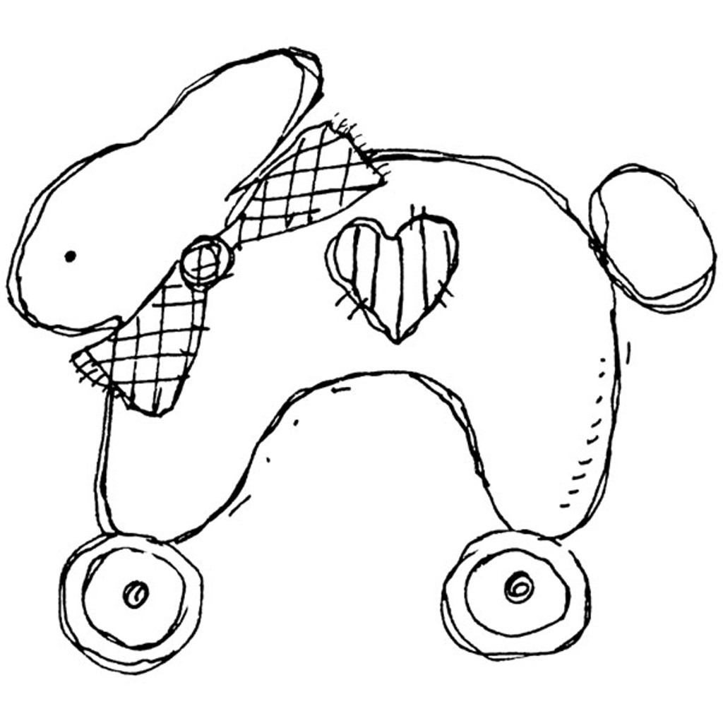 Roller Bunny Unmounted Stamp by Karen Foster