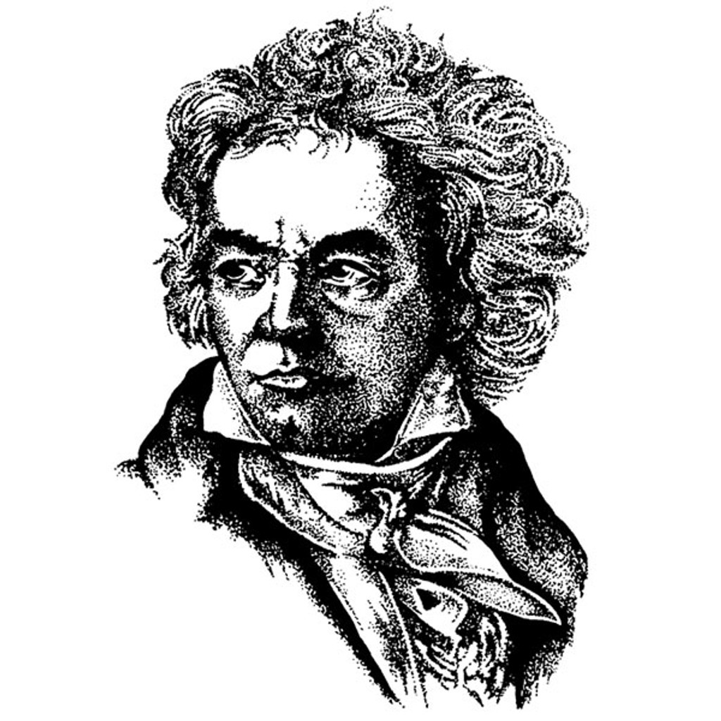 Beethoven — Medium Unmounted Stamp by Classic Stampington & Company