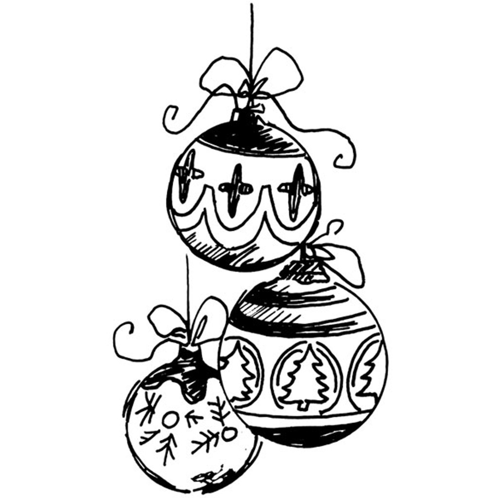 Ornament Trio — Large Unmounted Stamp by Classic Stampington & Company