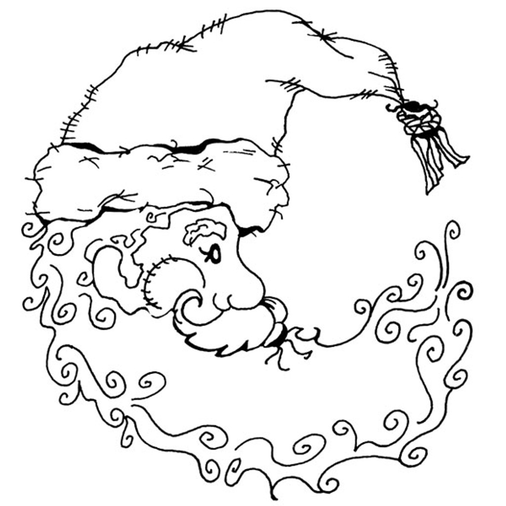 Santa Moon — Small Unmounted Stamp by Classic Stampington & Company