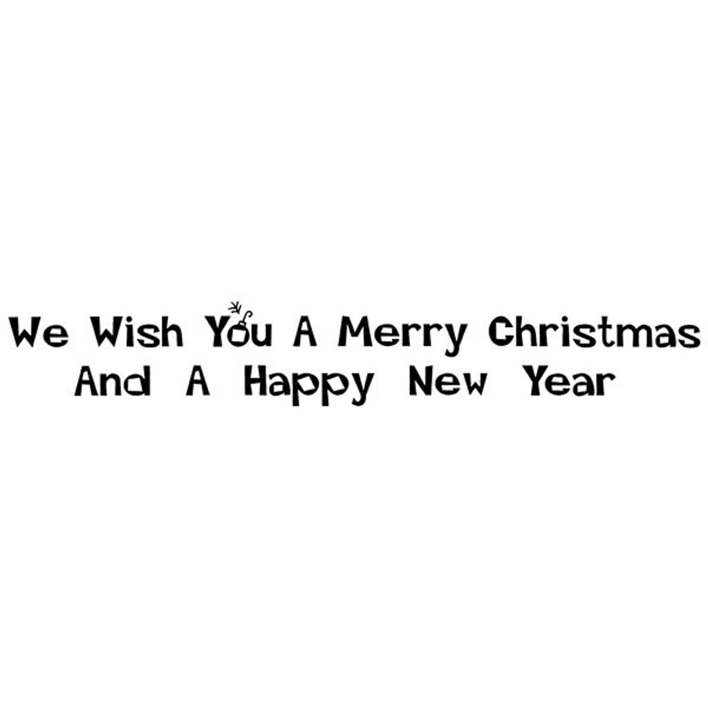 We Wish You - Medium Unmounted Stamp by Classic Stampington & Company
