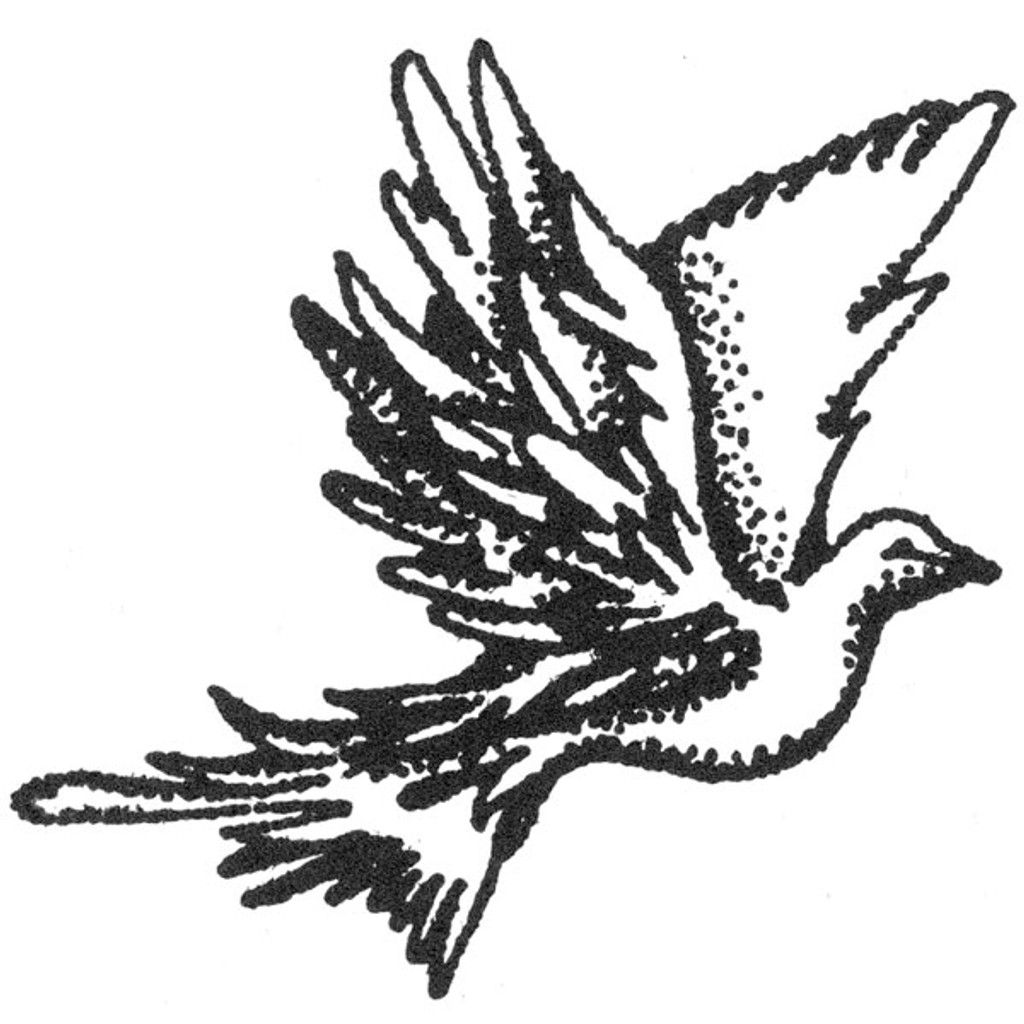 Dove — Small Unmounted Stamp by Classic Stampington & Company