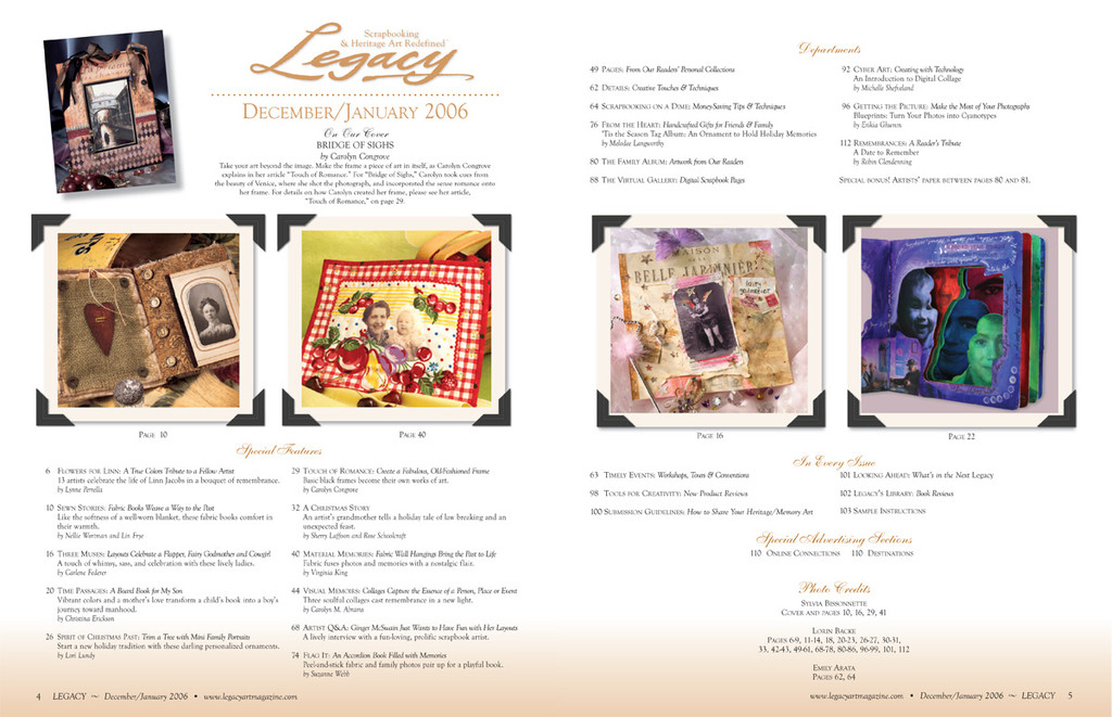 Legacy Dec/Jan 2006
