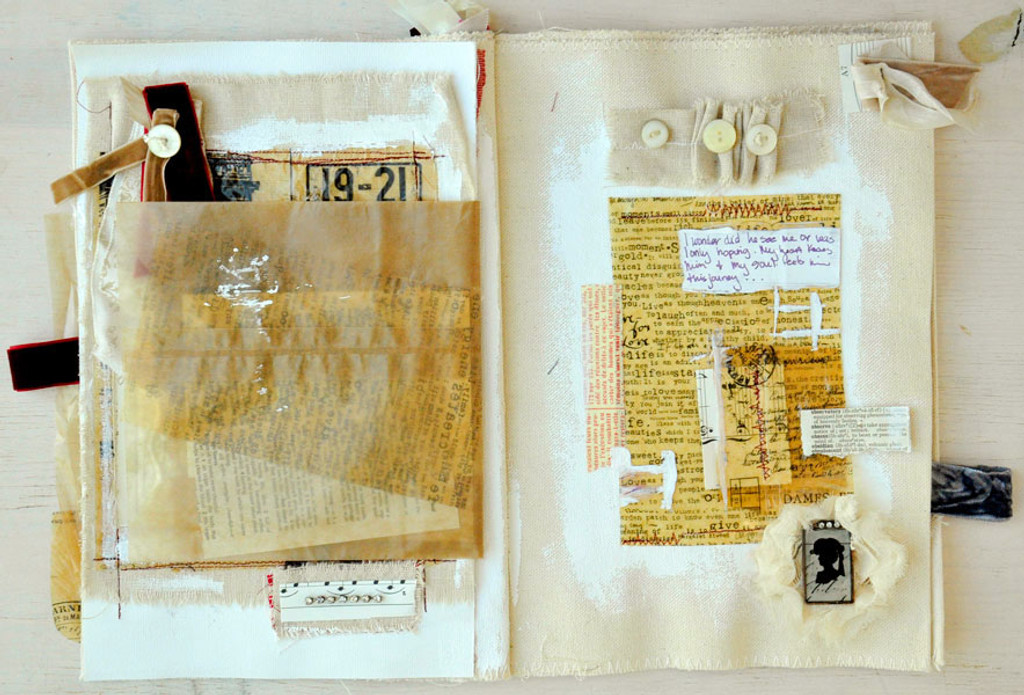 Whimsical Journey - Canvas Journal Project by Kristen Robinson