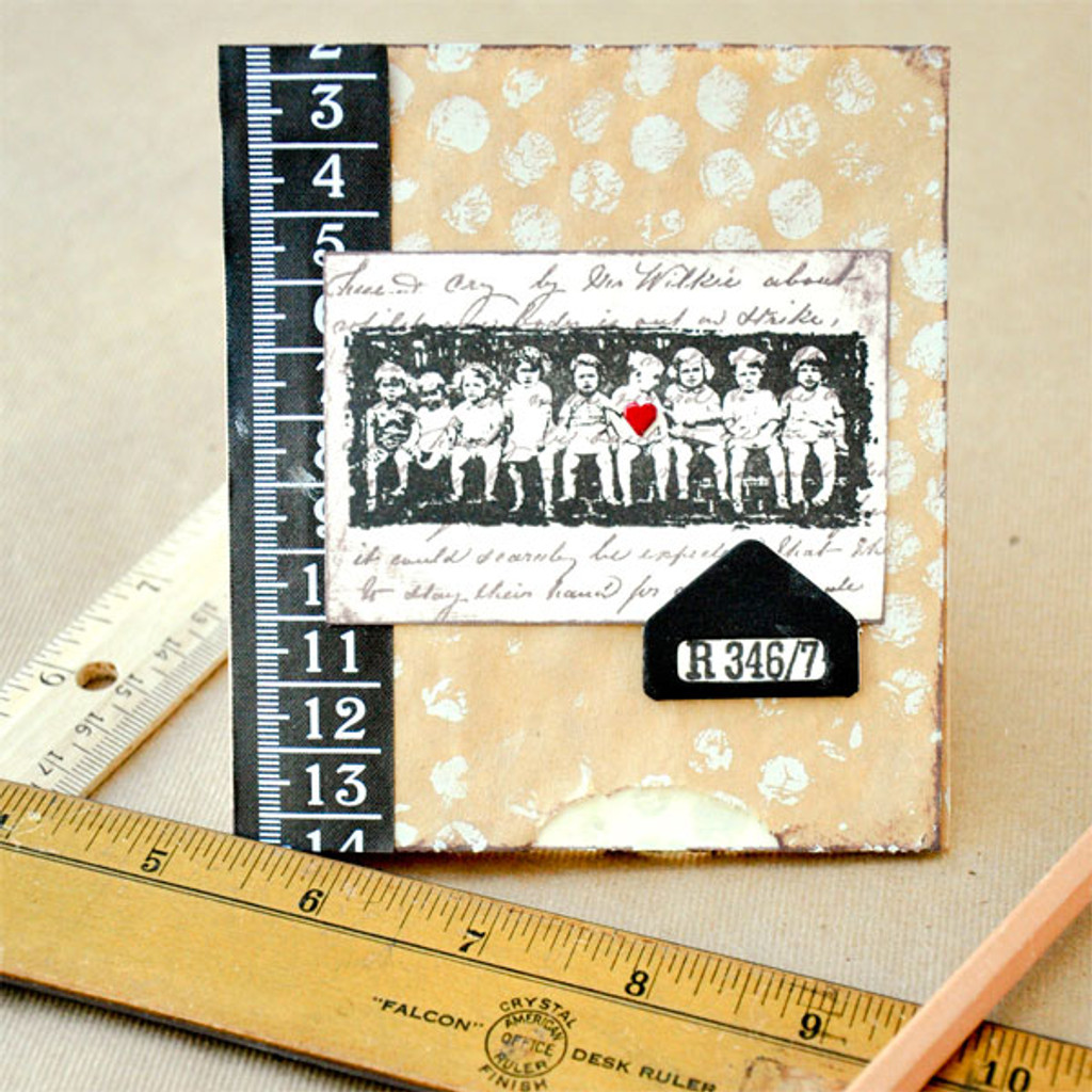 With One Stamp (Vintage Children) Project by Lori Brofsky & Clarissa Romano
