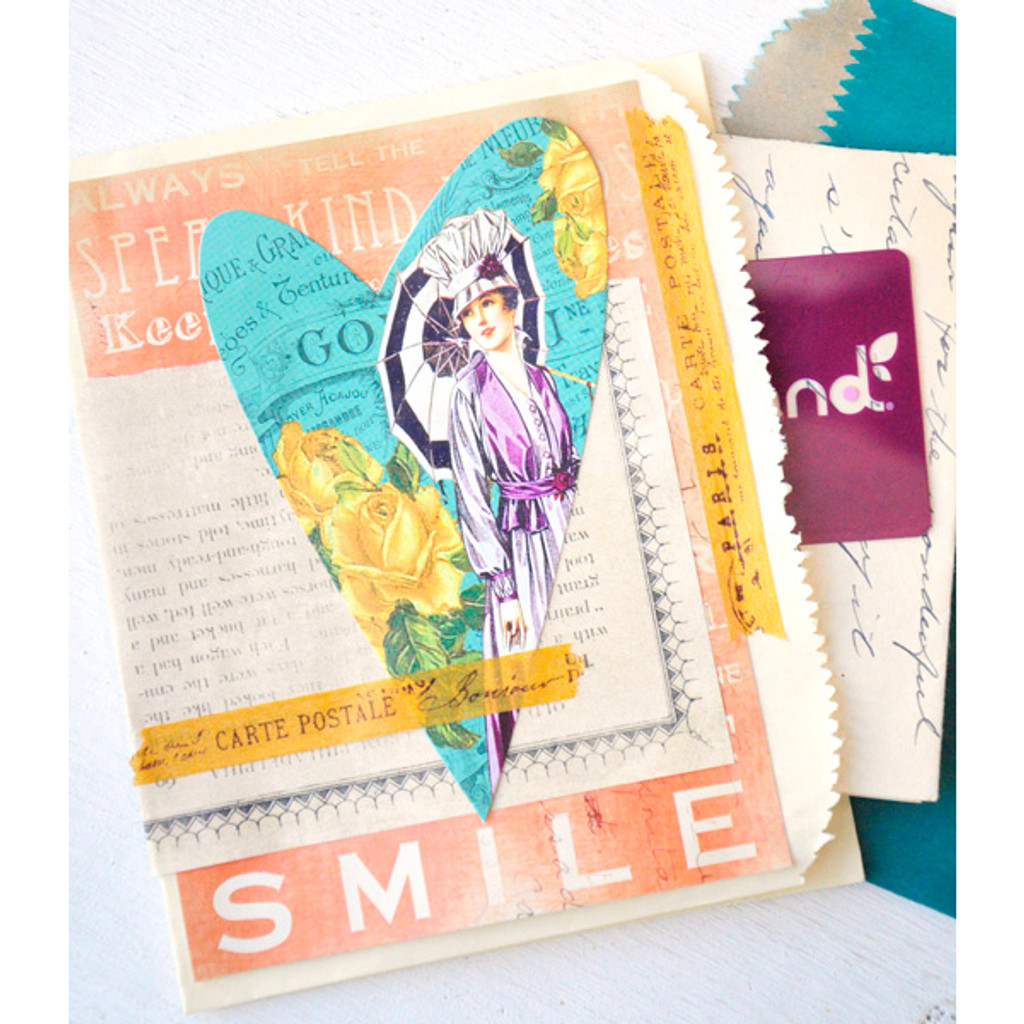 Layered Paper Bag Cards Project