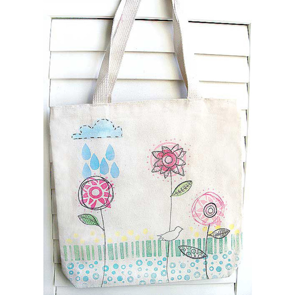 Whimsy Tote Bag Project by Claudine Hellmuth