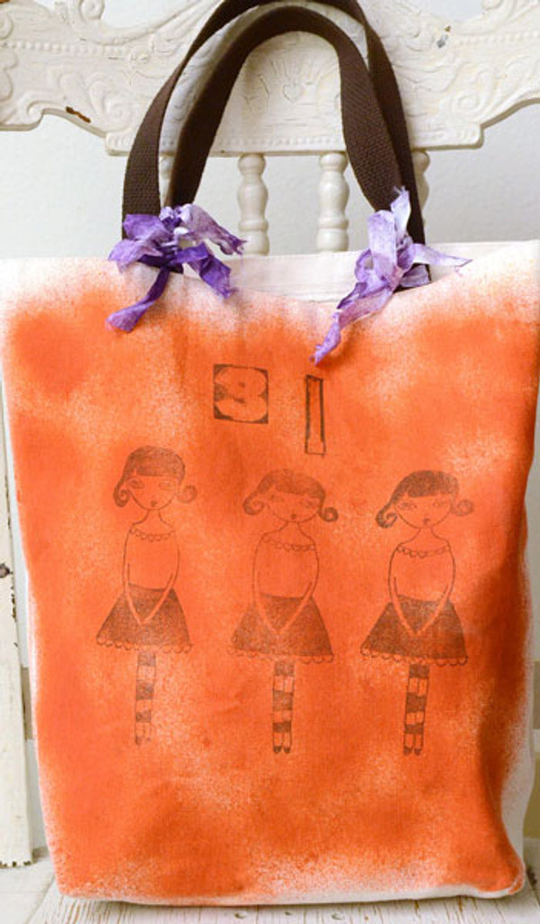 Mommy and Me Trick or Treat Bags Project and Daughter Izzy