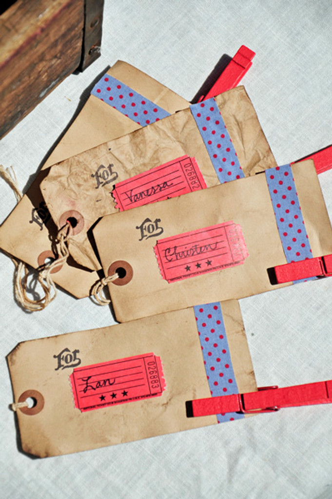 Picnic Style Place Cards Project