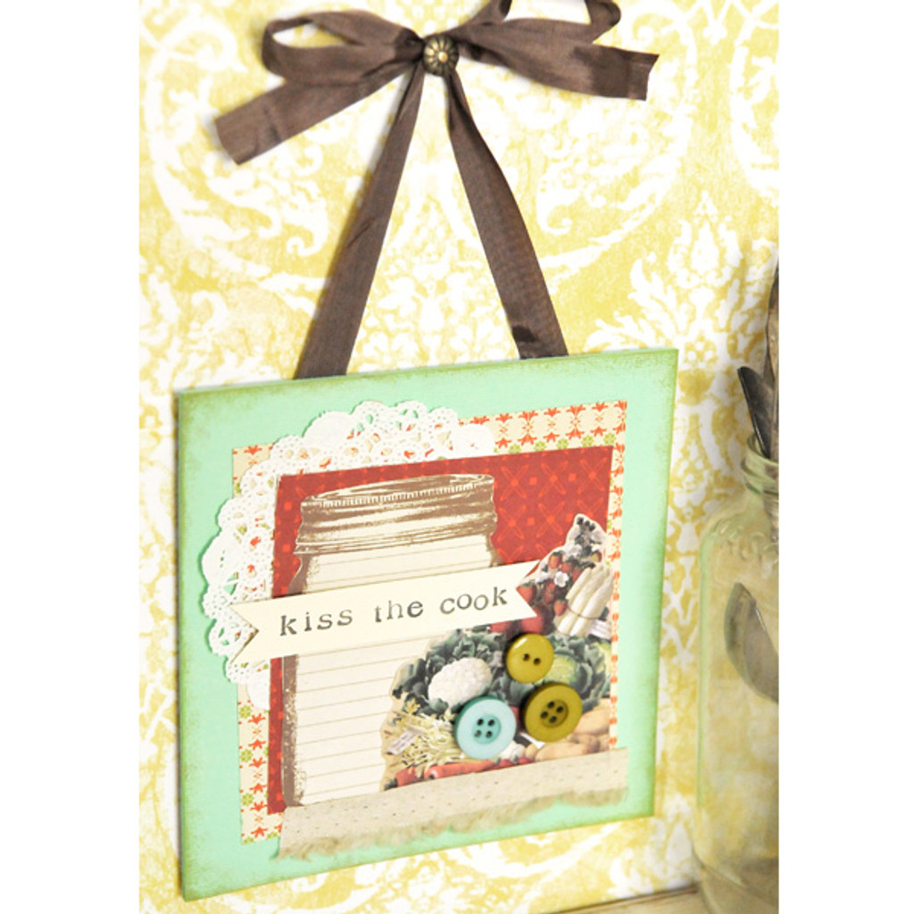 Kiss the Cook Wall Hanging Project by Kerri Winterstein
