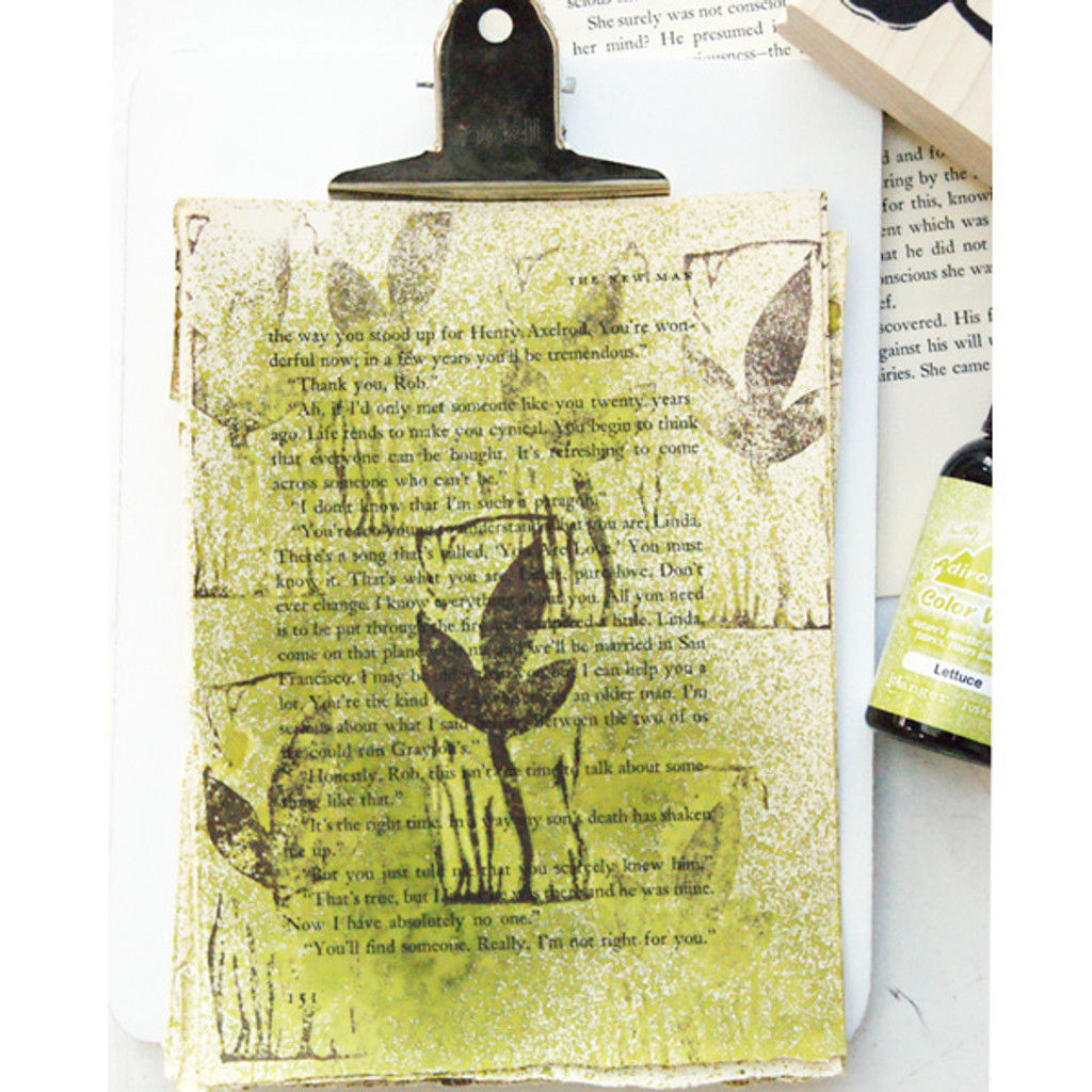 Creatively Stamped Art Papers Project