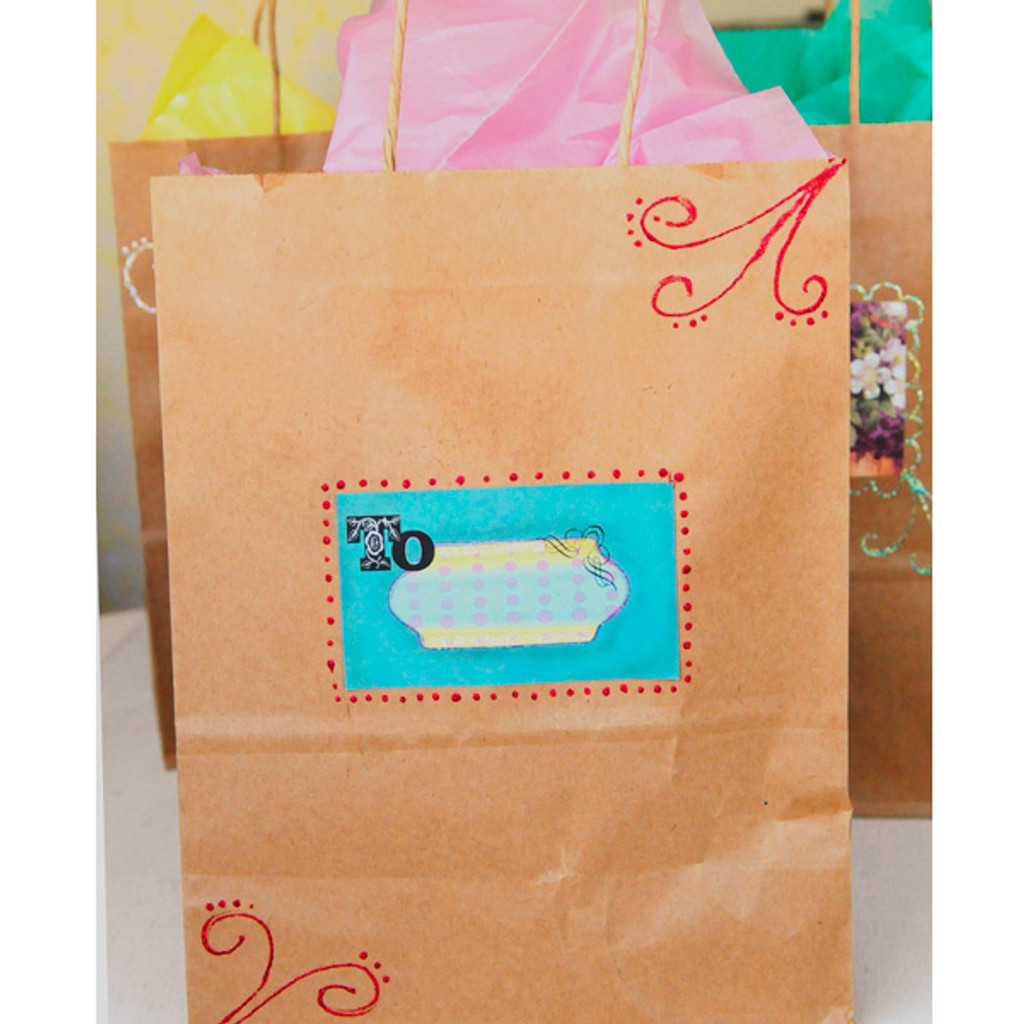 Glittered Gift Bags Project