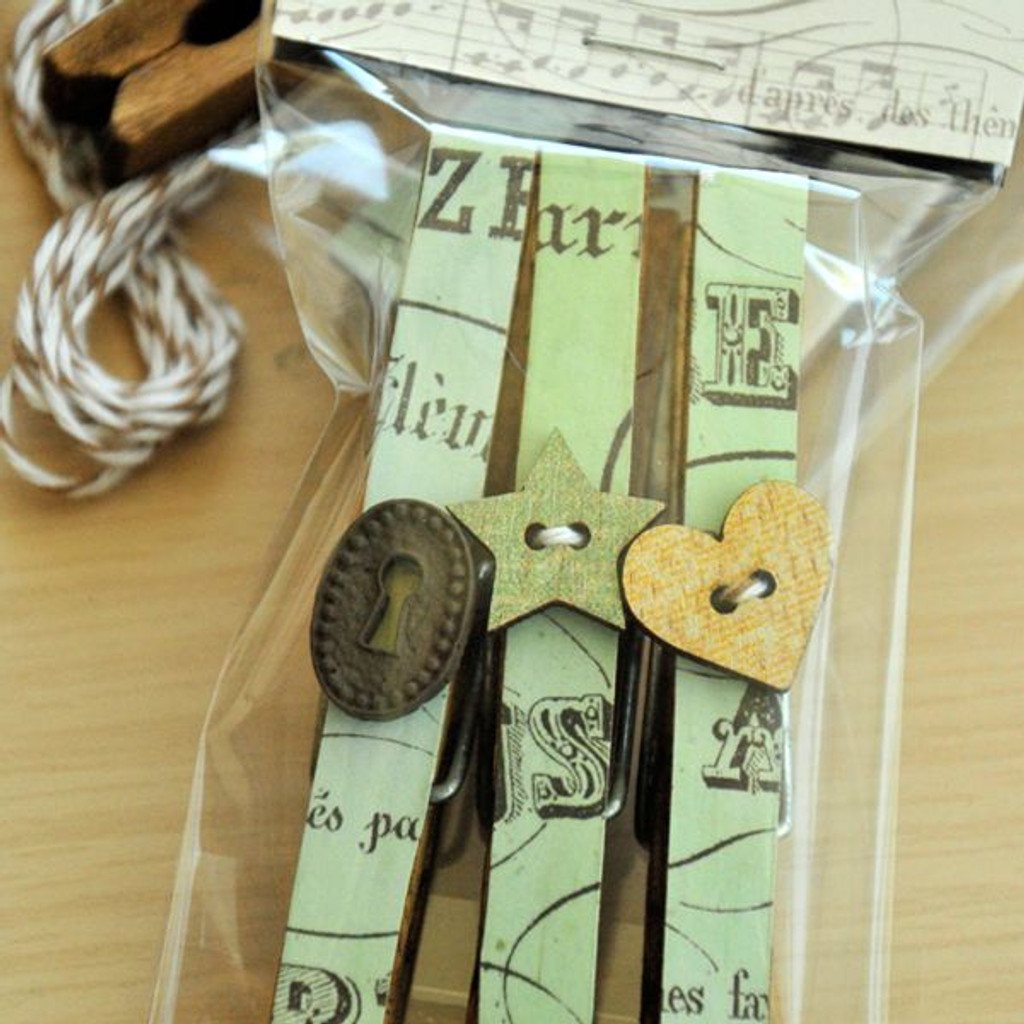 Altered Clothespins Gift Package Project