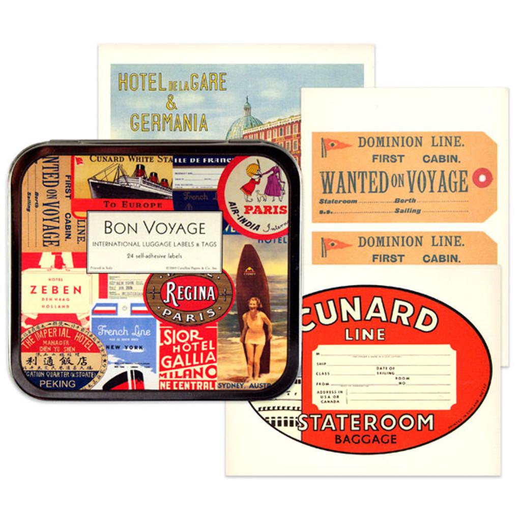 Cavallini & Co. Labels - Bon Voyage