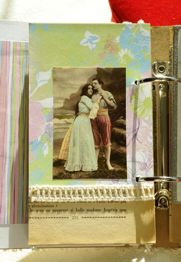 Vintage Romance Purse Book Project by Sarah Meehan
