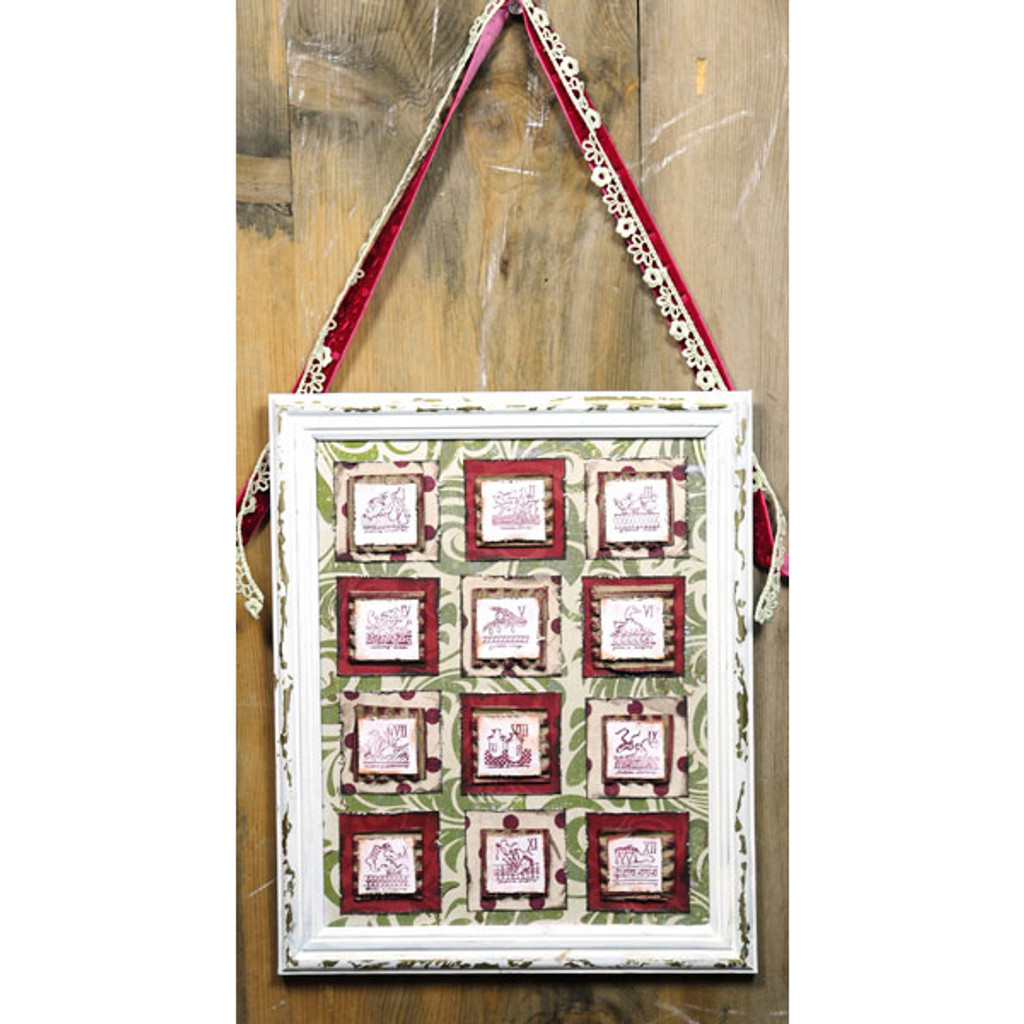 12 Days of Christmas Shabby Frame Project