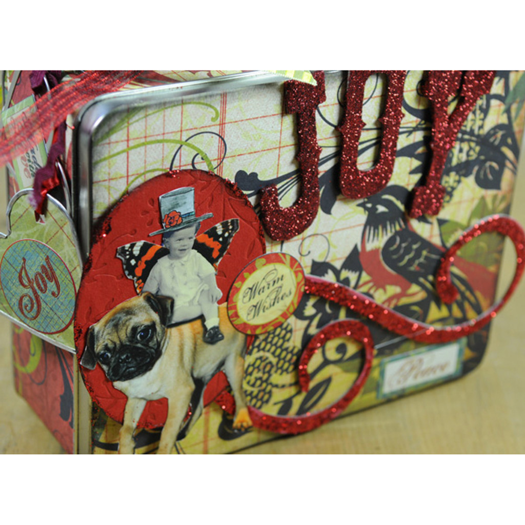 Holiday Altered Lunch Box Project by Angela Hoffmann