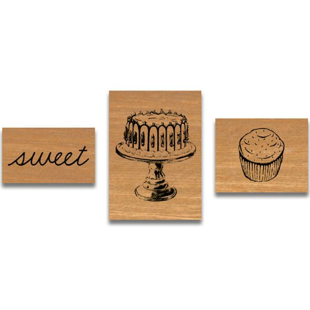 Cavallini & Co. Mini Rubber Stamp Set - Sweet Treats