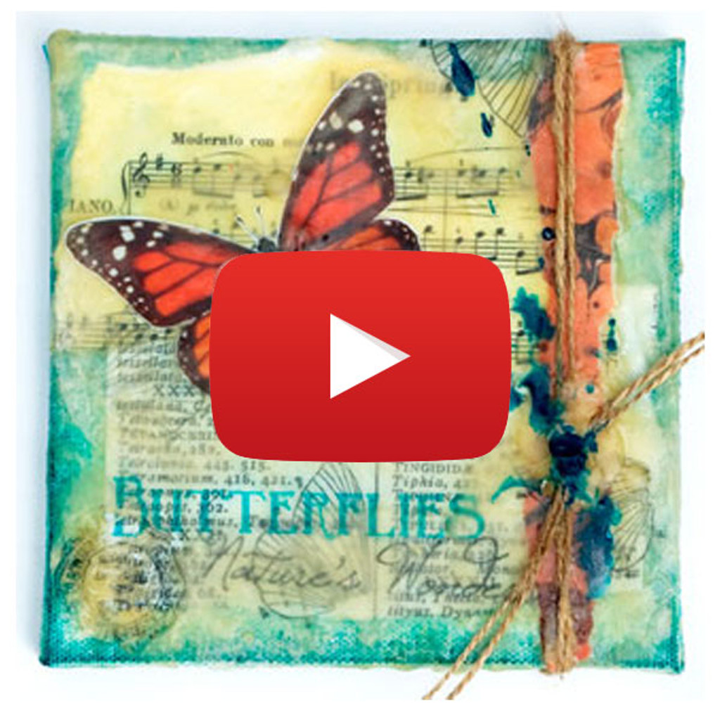 Butterfly on Beeswax Video By Lucy Hill Edson