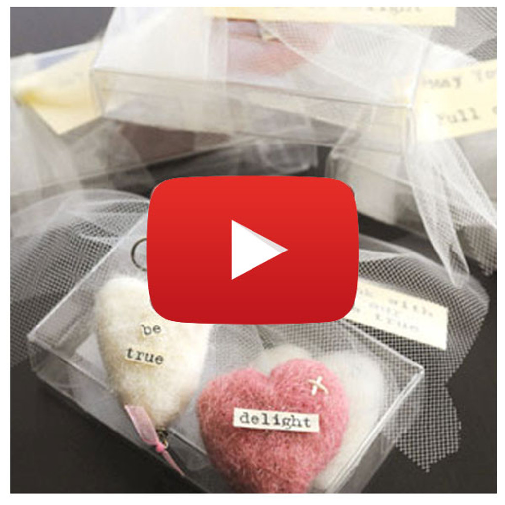 Felted Hearts Ornaments Video By Kristen Robinson