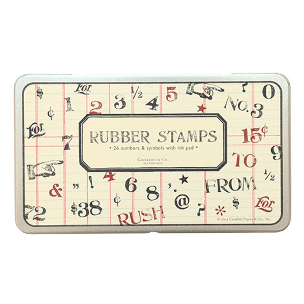 Cavallini & Co. Rubber Stamp Set — Numbers & Symbols