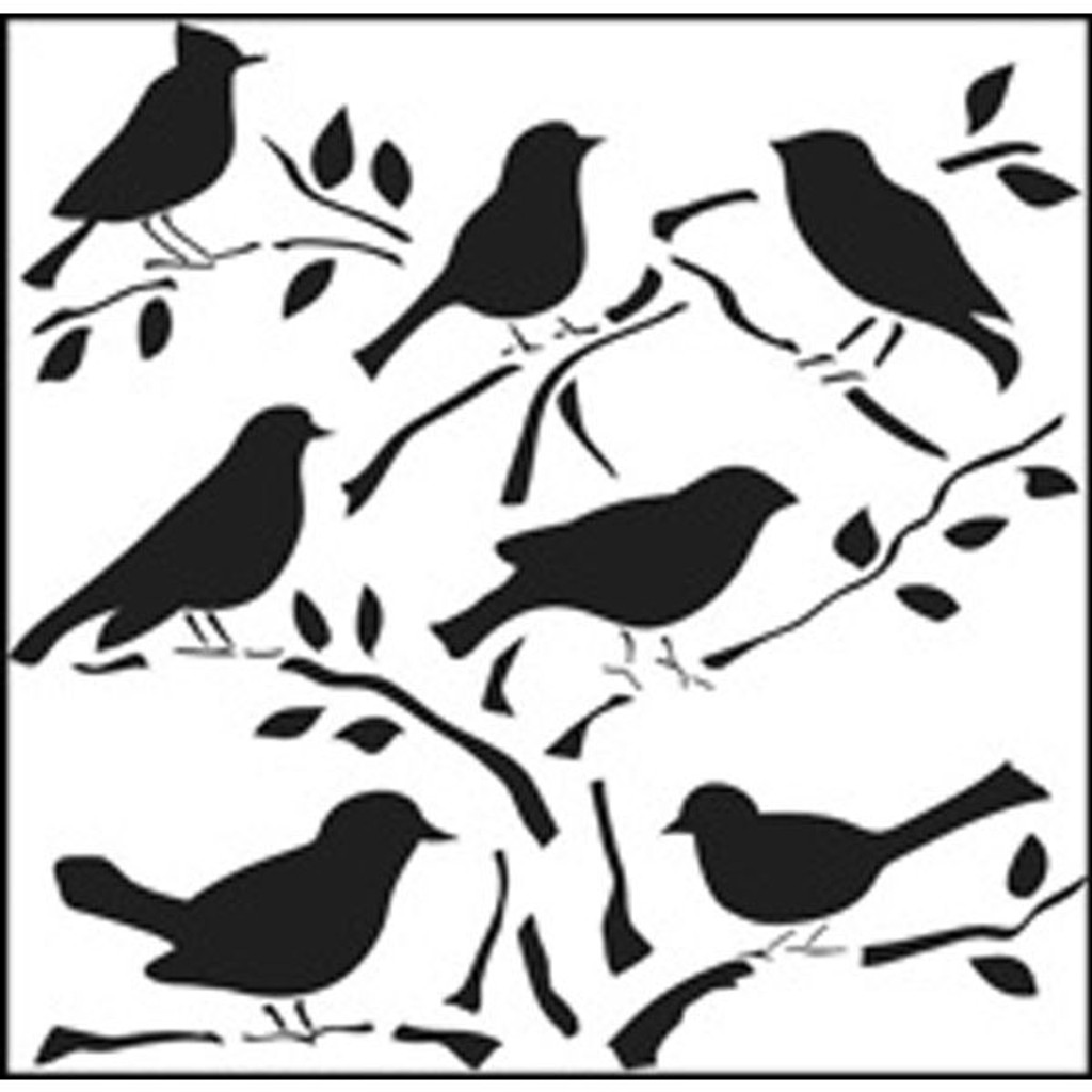 The Crafter's Workshop Birds Stencil — 6 x 6
