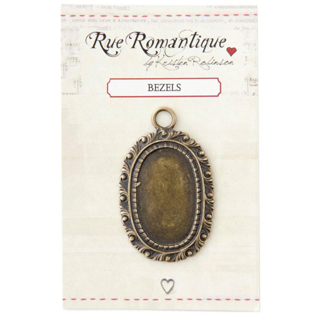 Rue Romantique Medium Oval Bezel - Brass Tone