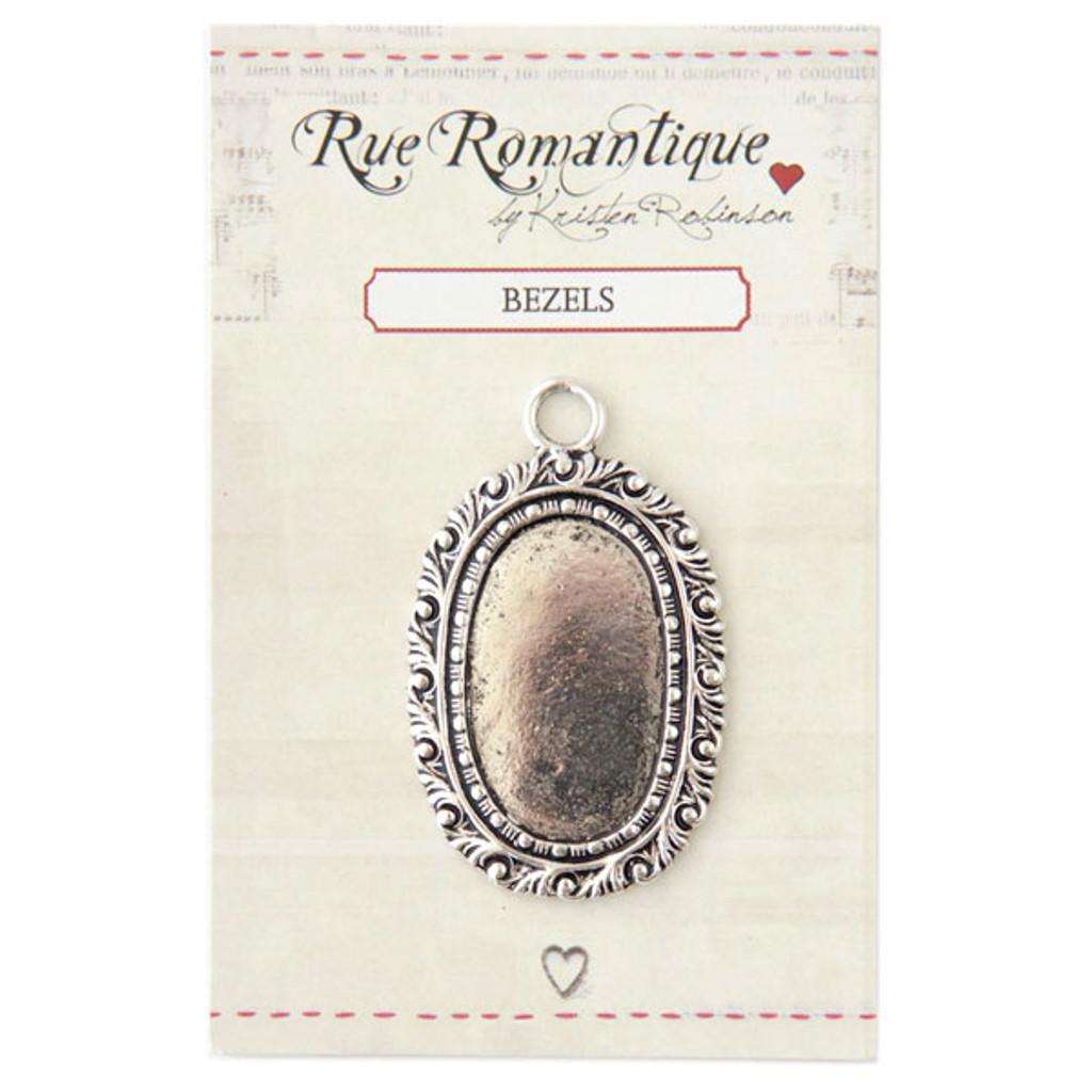 Rue Romantique Medium Oval Bezel — Silver Tone