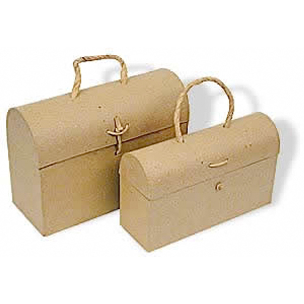 Paper Mache Lunch Box Set